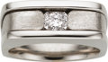 Estate Jewelry:Rings, Gentleman's Diamond, White Gold Ring. ...