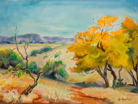 LOIS HOGUE SHAW (American, 1897-2001) Sweetwater Landscape Oil on canvas 12 x 16 inches (30.5 x 4