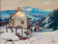 Fine Art - Painting, American:Modern  (1900 1949)  , WILLIAM FRANCIS TAYLOR (American, 1883-1970). Toward St.Agricole. Oil on canvas board. 12 x 15-3/4 inches (30.5 x 40.0...