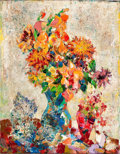Fine Art - Painting, American:Modern  (1900 1949)  , JOHN E. COSTIGAN (American, 1888-1972). Flowers in a Vase.Oil on canvas . 28-1/4 x 22 inches (71.8 x 55.9 cm). Signed l...