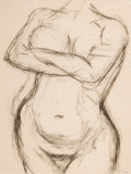 Texas:Early Texas Art - Drawings & Prints, BILL BOMAR (American, 1919-1991). Nude Torso. Charcoal on paper . 24-1/2 x 18-1/2 inches (62.2 x 47.0 cm). Signed lower ...