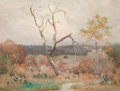 Texas:Early Texas Art - Regionalists, ROBERT WILLIAM WOOD (American, 1889-1979). Texas Prickly Pearson a Stormy Day. Oil on board . 18 x 24 inches (45.7 x 61...