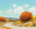Texas:Early Texas Art - Regionalists, WILLIAM A. SLAUGHTER (American, 1923-2003). Texas in theFall. Oil on canvas . 8 x 9-3/4 inches (20.3 x 24.8 cm).Signed...