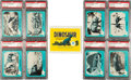 Non-Sport Cards:Sets, 1961 Nu-Card Dinosaur Series High Grade Complete Set (80) PlusWrapper (With six PSA 10s). ...