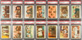 Non-Sport Cards:Sets, 1959 Fleer The Three Stooges High Grade Complete Set (96) With 19PSA MINT 9's Plus Wrapper. ...