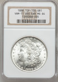 Morgan Dollars, 1888 $1 Double Die Obverse Ear MS64 NGC. Vam-11, Top-100. NGCCensus: (17287/6362). PCGS Population (12767/3733). Mintage: ...