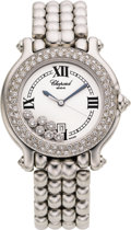Estate Jewelry:Watches, Chopard Lady's Diamond, White Gold Wristwatch, modern. ...