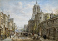 Fine Art - Painting, European:Antique  (Pre 1900), PROPERTY FROM A PROMINENT COLLECTION, BALTIMORE, MARYLAND. LOUISERAYNER (British, 1829-1924). Christ Church, Oxford. ...