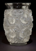 Art Glass:Lalique, R. LALIQUE CLEAR AND FROSTED GLASS BAGATELLE VASE . Circa1950. Stenciled: Lalique, France . 6-3/4 inches hi...