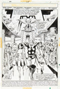 Original Comic Art:Splash Pages, John Buscema and Jim Mooney Thor #218 Splash Page 1 OriginalArt (Marvel, 1973)....