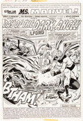 Original Comic Art:Panel Pages, Sal Buscema and Frank Giacoia Ms. Marvel #11 Splash Page 1Original Art (Marvel, 1977)....