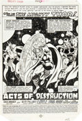 Original Comic Art:Splash Pages, Keith Pollard and Dan Green Thor #314 Splash Page 1 OriginalArt (Marvel, 1981)....