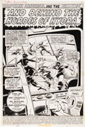 Original Comic Art:Panel Pages, Sal Buscema, and John Verpoorten Captain America #147 Splash Page 1 Original Art (Marvel, 1972)....