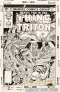 Original Comic Art:Covers, George Perez and Gene Day Marvel Two-In-One #65 The Thingand Triton Cover Original Art (Marvel, 1980)....