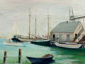 Texas:Early Texas Art - Impressionists, PAUL RICHARD SCHUMANN (American, 1876-1946). Sailboats atDock. Oil on canvas board. 12 x 15-3/4 inches (30.5 x 40.0cm)...