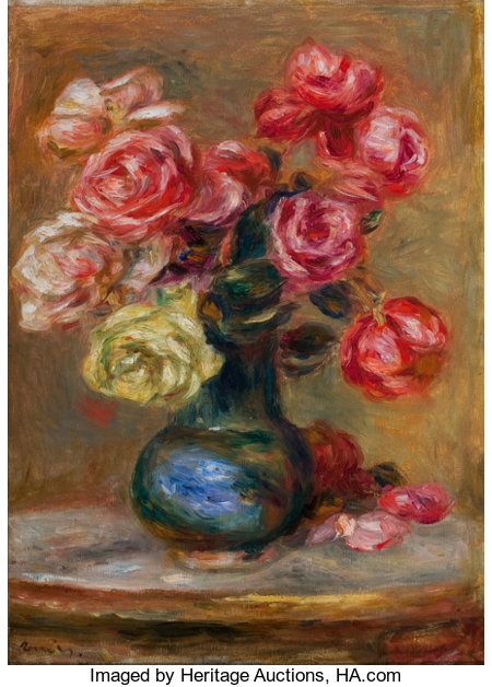 PROPERTY FROM THE LUCIEN ABRAMS COLLECTIONPIERRE-AUGUSTE RENOIR (French, 1841-1919)Le Bouquet, 1910Oil on canvas...