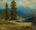 Paintings, ROBERT WILLIAM WOOD (American, 1889-1979). The Sierra Nevadas. Oil on canvas. 30 x 36 inches (76.2 x 91.4 cm). Signed lo...