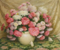 Paintings, JOSEPH HENRY SHARP (American, 1859-1953). Chrysanthemums. Oil on canvas. 20-1/2 x 24-1/2 inches (52.1 x 62.2 cm). Signed...