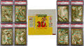 Non-Sport Cards:Sets, 1953 Topps Tarzan And The She Devil High Grade Complete Set (60)Plus Wrappers and 3D Glasses. ...