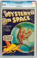 Silver Age (1956-1969):Science Fiction, Mystery in Space #38 (DC, 1957) CGC VF 8.0 Cream to off-whitepages....