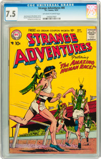 Strange Adventures #85 (DC, 1957) CGC VF- 7.5 Off-white to white pages