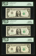 Fr. 1909-E $1 1977 Federal Reserve Notes. Two Examples. PCGS Choice New 63PPQ. Fr. 1915-H $1 1988A Federal Reserve Note...