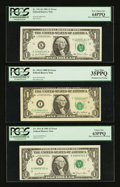 Error Notes:Error Group Lots, Fr. 1911-K $1 1981 Federal Reserve Notes. Two Examples. PCGS VeryChoice New 64PPQ and PCGS Choice New 63PPQ.. Fr. 1913-I ... (Total:3 notes)