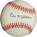 Autographs:Baseballs, Circa 1980 Leo Durocher Single Signed Baseball, PSA NM-MT+ 8.5....