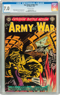 Golden Age (1938-1955):War, Our Army at War #15 (DC, 1953) CGC FN/VF 7.0 Off-white pages....