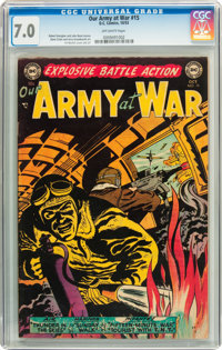 Our Army at War #15 (DC, 1953) CGC FN/VF 7.0 Off-white pages