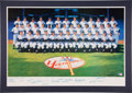 Autographs:Others, 1961 New York Yankees Reunion Team Signed Lithograph....