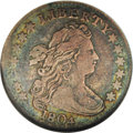 Early Dimes: , 1804 10C 14 Stars on Reverse VF20 NGC. JR-2, R.5. The popularblundered die variety with 14 stars above the eagle, instead ...