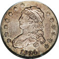 Bust Quarters: , 1824/2 25C VF25 PCGS. B-1, R.3. Deep steel-gray and medium brown shades envelop this surprisingly bold example. Moderate ma...