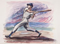 "Baseball Collectibles:Others, Joe DiMaggio ""John Groth"" Lithograph...."