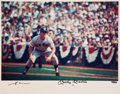 Autographs:Photos, Circa 1990 Mickey Mantle Signed Oversized UDA Photograph....