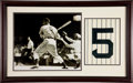 Autographs:Photos, Circa 1990 Joe DiMaggio Signed Oversized Photograph Display....