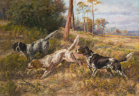 PROPERTY FROM THE HOUSTON CLUB COLLECTION  EDMUND HENRY OSTHAUS (American, 1858-1928) English Setters in