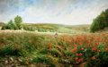 Fine Art - Painting, European:Antique  (Pre 1900), PIERRE ARTHUR GAILLARD (French, 19th Century). Un Coin de Pré enFleurs (A Corner of the Field in Bloom), 1892. Oil on c...