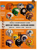 Football Collectibles:Programs, 1961 NFL Championship Press Pin and 1965 NFL Championship Game Program - Green Bay Packers Victorious in Each....