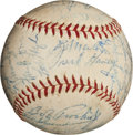 Autographs:Baseballs, 1957 Milwaukee Braves Team Signed Baseball (World Champions)....