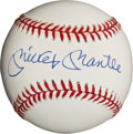 Autographs:Baseballs, Circa 1990 Mickey Mantle Single Signed Baseball, PSA Mint 9....