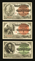 "Miscellaneous:Other, World's Columbian Exposition Tickets 1893 Indian ""A""; Columbus ""A"";and Lincoln ""A"" Examples.. ... (Total: 3 notes)"
