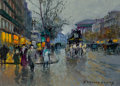 Fine Art - Painting, European:Contemporary   (1950 to present)  , EDOUARD-LÉON CORTÈS (French, 1882-1969). Boulevard desCapucines, Paris. Oil on canvas. 13 x 18 inches (33.0 x 45.7cm)...