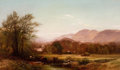 American:Hudson River School, ARTHUR PARTON (American, 1842-1914). Pair of BerkshireLandscapes, 1872. Oil on canvas . 34-1/4 x 40-1/4 inches (87.0x ...