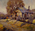 Texas:Early Texas Art - Regionalists, FRANK KLEPPER (American, 1890-1952). The Cabin. Oil oncanvas. 16 x 19 inches (40.6 x 48.3 cm). Signed lower right:Kl...