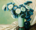 Texas:Early Texas Art - Modernists, A. D. GREER (American, 1904-1998). Chrysanthemums in Vase. Oil on canvas . 25 x 30 inches (63.5 x 76.2 cm). Signed lower...
