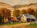 Texas:Early Texas Art - Regionalists, ROLLA SIMS TAYLOR (American, 1872-1970). Goat Ranch . Oil oncanvas board . 12 x 16 inches (30.5 x 40.6 cm). Signed lowe...
