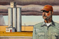 Texas:Early Texas Art - Modernists, JON FLAMING (American, b. 1962). Abandoned Silos. Oil onmasonite. 24 x 36 inches (61.0 x 91.4 cm). Monogrammed and sign...