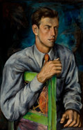 Texas:Early Texas Art - Modernists, DICKSON REEDER (American, 1912-1970). Portrait of JoeHarris, circa 1938-1939. Oil on canvas . 26 x 17 inches (66.0 x43...