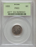 Proof Barber Dimes: , 1893 10C PR63 PCGS. PCGS Population (22/115). NGC Census: (26/159).Mintage: 792. Numismedia Wsl. Price for problem free NG...